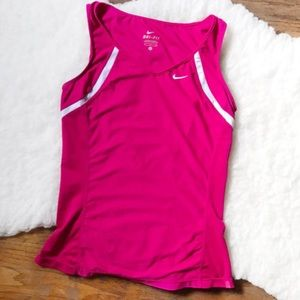 Nike Dri-fit pink active tank top small